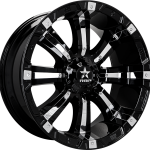 94R Gloss Black Chrome Inserts 17"