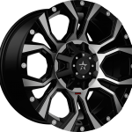 Widow Gloss Black Machined 20""