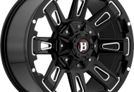 Ravage Gloss Black Machined 17"