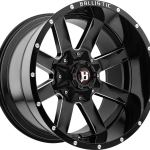 Rage Gloss Black Machined 20""