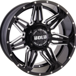 BD001 Gloss Black Milled 20""