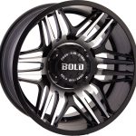 BD003 Flat Black Machined 20""