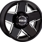 BD004 Gloss Black Milled 20""