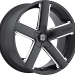 Number 35 Satin Black / Chrome Inserts 20"