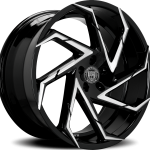 Cyclone Gloss Black Machined 20"