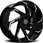 Cyclone Gloss Black Machined Tips 20"