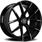 Stuttgart Gloss Black Machined Tips 20"