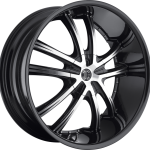 """Number 21 Gloss Black Machined 20""""   22""""   24""""   26"""""""