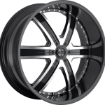 """Number 4 Gloss Black Machined 20""""   22""""   24""""   26""""   28"""""""