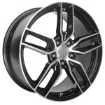 C7 Black Machined 17"