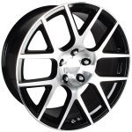 Scat Pack Black Machined 20""