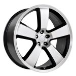 Charger SRT8 Black Machined 20″ | 22″