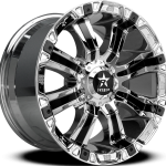 94R Chrome Black Inserts 17"