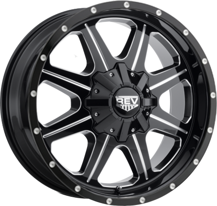 Black and Milled DV8 823 REV OFFROAD WHEEL