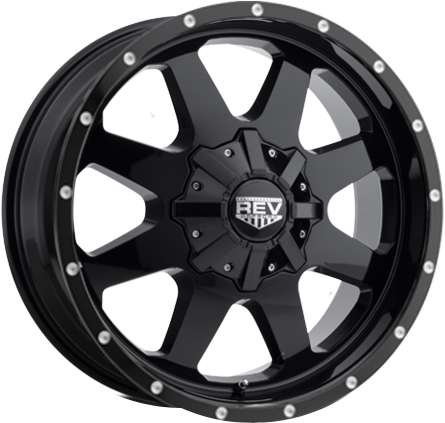 Black DV8 823 REV OFFROAD WHEEL