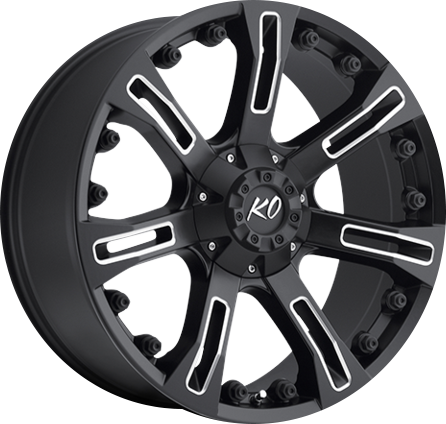 Black and Milled DV8 840 REV OFFROAD WHEEL