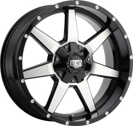 Black and Milled DV8 875 REV OFFROAD WHEEL