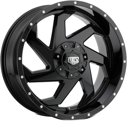 Black DV8 895 REV OFFROAD WHEEL