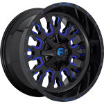 Fuel Stroke Gloss Black w/ Candy Blue
