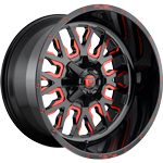 Fuel Stroke Gloss Black w/ Candy Red