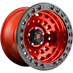 Fuel Zephyr Beadlock Candy Red w/ Matte Black Ring
